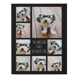 Create A Custom Photo Collage With 8 Photos Faux Canvas Print at Zazzle