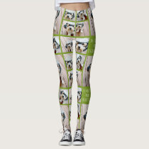 Create a Custom Photo Collage with 8 Photos Leggings