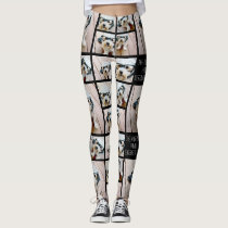 Create a Custom Photo Collage with 8 Photos Leggings