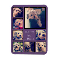 Create a Custom Photo Collage with 8 Photos Magnet