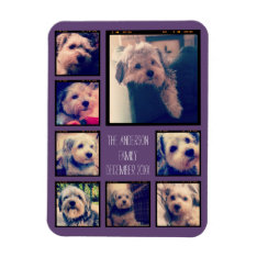 Create A Custom Photo Collage With 8 Photos Magnet at Zazzle