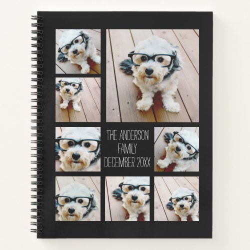Create a Custom Photo Collage with 8 Photos Notebook
