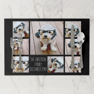 Create a Custom Photo Collage with 8 Photos Paper Placemat