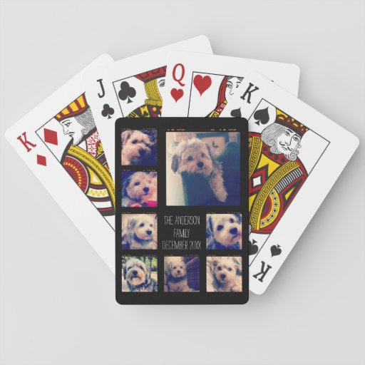 Create a Custom Photo Collage with 8 Photos Playing Cards