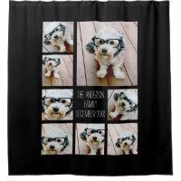 Create a Custom Photo Collage with 8 Photos Shower Curtain