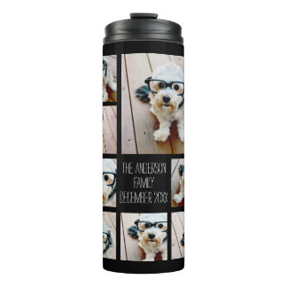 Create a Custom Photo Collage with 8 Photos Thermal Tumbler