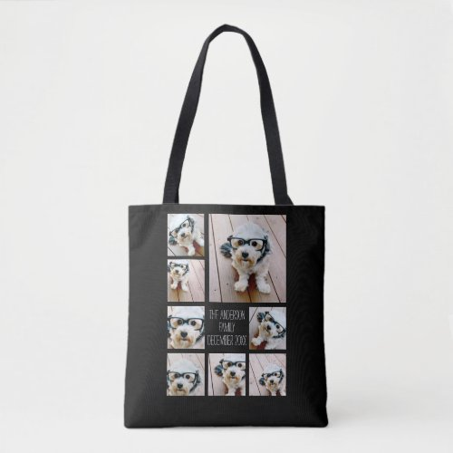 Create a Custom Photo Collage with 8 Photos Tote Bag
