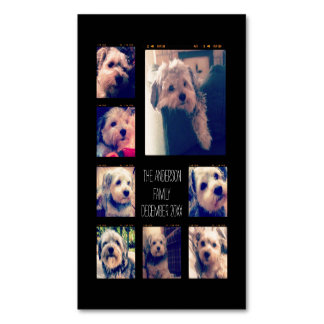 Create a Custom Photo Collage with 8 Photos Magnetic Business Cards (Pack Of 25)