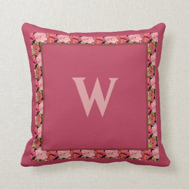 Create a Custom Throw Pillow with Hibiscus Border
