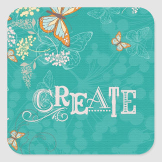 Create:  A Fresh Start Square Sticker