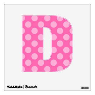 Create a Monochromatic Polka Dot Letter D Wall Skins