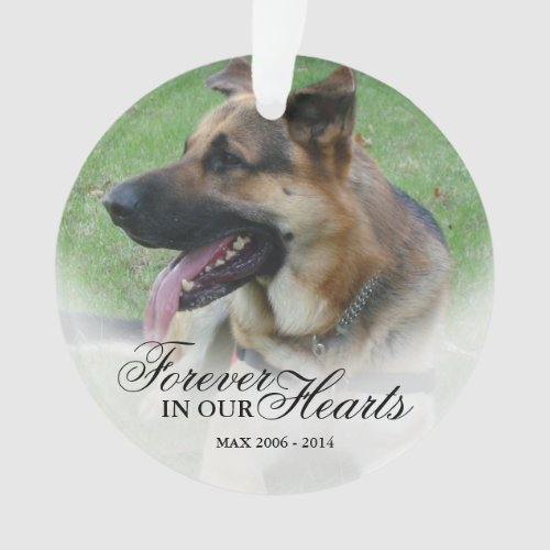 Create a Name and Photo Pet or Person Memorial Ornament
