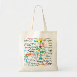 create a nice and colorful name pattern tote bag