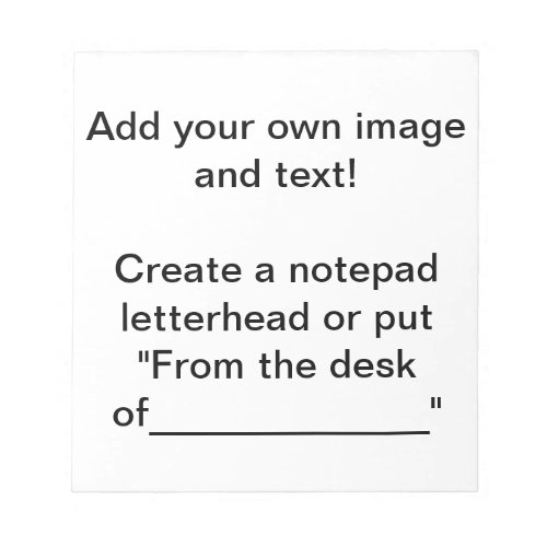 Create a Notepad Notepad