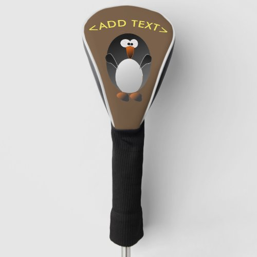 Create a Penguin Golf Golf Head Cover