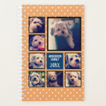 """Create a Photo Collage with 8 Photos - navy orange Planner<br><div class=""""desc"""">Use your favorite photo or pictures to make a fun keepsake to share with friends.</div>"""