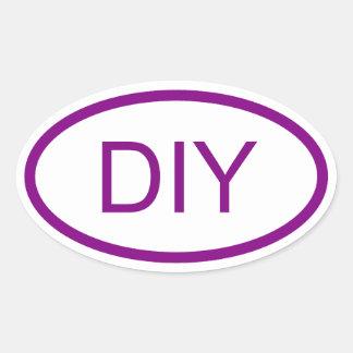 Create a Purple Euro Style Oval Sticker