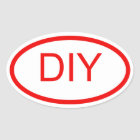 Create a Red Euro Style Oval Sticker
