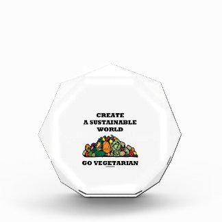 Create A Sustainable World Go Vegetarian Acrylic Award