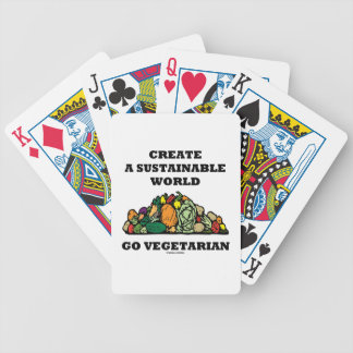 Create A Sustainable World Go Vegetarian Bicycle Card Decks