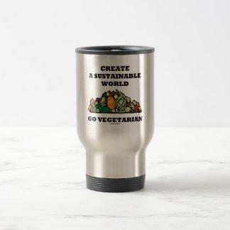 Create A Sustainable World Go Vegetarian Travel Mug