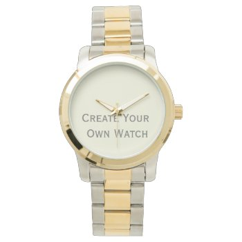 Create A Two Tone Watch At Low Cost by DigitalDreambuilder at Zazzle