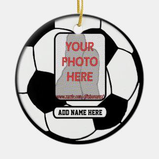 Create a unique soccer gift ceramic ornament