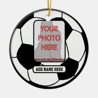 Create a unique soccer gift christmas ornaments
