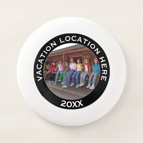 Create A Vacation Souvenir with Photo and Text Wham_O Frisbee