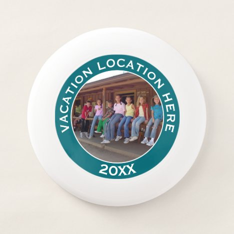 Create A Vacation Souvenir with Photo and Text Wham-O Frisbee