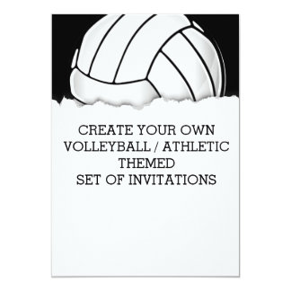 Volleyball Birthday Invitations Announcements Zazzle