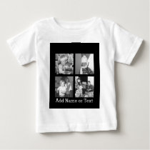 Create an Instagram Collage with 4 photos - black Baby T-Shirt