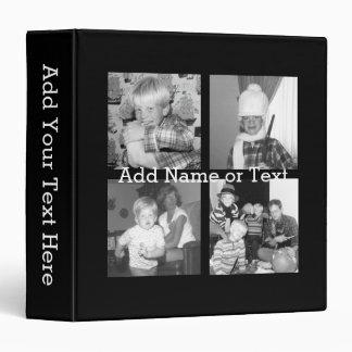 Create an Instagram Collage with 4 photos - black Binder