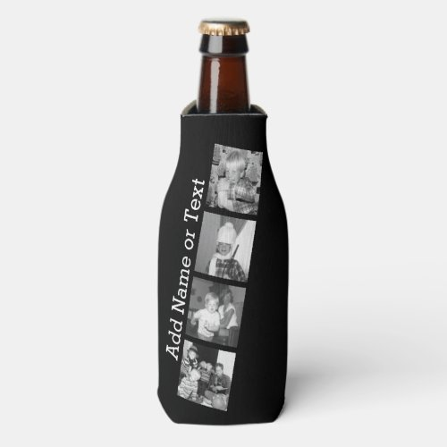 Create an Instagram Collage with 4 photos _ black Bottle Cooler