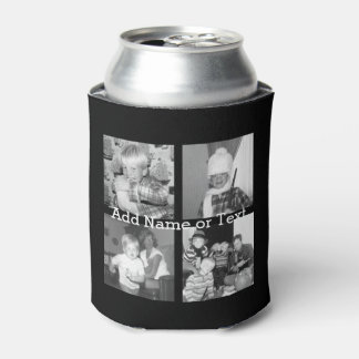 Create an Instagram Collage with 4 photos - black Can Cooler
