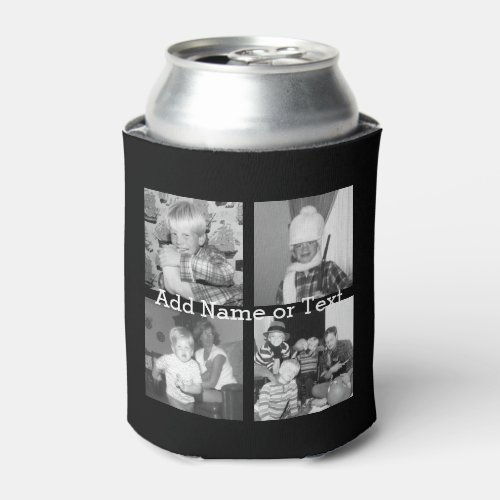Create an Instagram Collage with 4 photos _ black Can Cooler