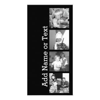Create an Instagram Collage with 4 photos - black Card