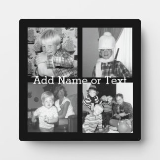 Create an Instagram Collage with 4 photos - black Display Plaques