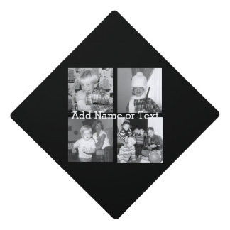 Create an Instagram Collage with 4 photos - black Graduation Cap Topper