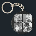 "Create an Instagram Collage with 4 photos - black Keychain<br><div class=""desc"">Use four square photos to create a unique and personal gift. Or you can keep the hipster puppy and make a trendy keepsake. If you need to adjust the pictures,  click on the customize tool to make changes.</div>"