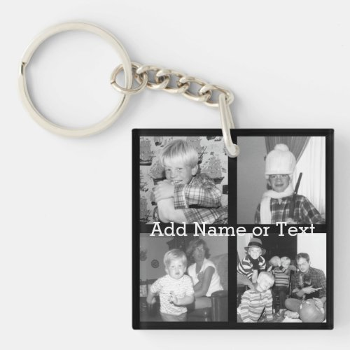 Create an Instagram Collage with 4 photos _ black Keychain