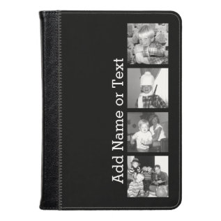 Create An Instagram Collage With 4 Photos - Black Kindle Case at Zazzle