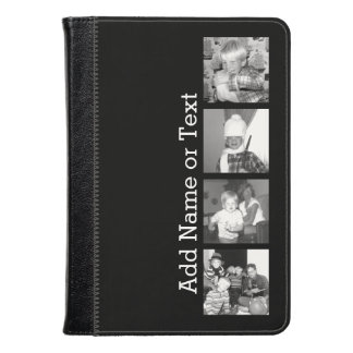 Create an Instagram Collage with 4 photos - black Kindle Case
