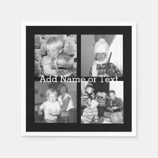 Create an Instagram Collage with 4 photos - black Napkin