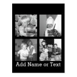 Create an Instagram Collage with 4 photos - black Postcard