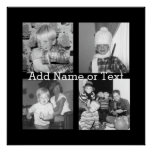 Create an Instagram Collage with 4 photos - black Poster