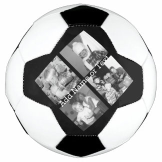 Create an Instagram Collage with 4 photos - black Soccer Ball