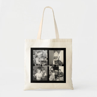 Create an Instagram Collage with 4 photos - black Tote Bag