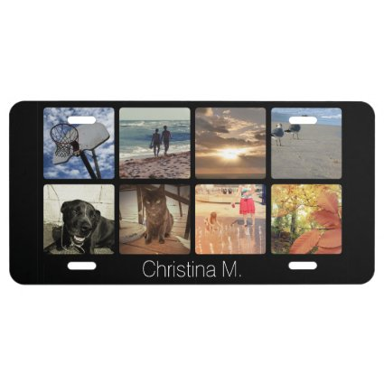 Create an Instagram Photo License Plate