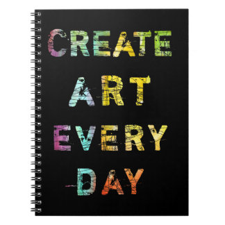 Create Art Every Day Spiral Notebook